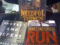 "Hard back books. Stephen King's ""Needful Things"", James"