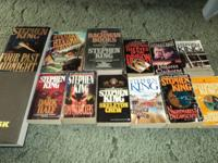 I have 13 Stephen King books for sale, I have copies of