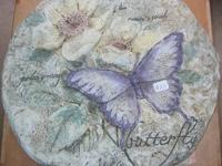 "Two 12"" diameter decorative hummingbird and butterfly"