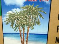 Pre-Lit Palm Tree 4-5-6 ft Triple Palm with 650 clear
