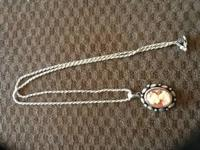 Very old sterling silver cameo necklace $75 if your