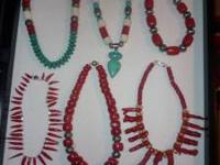 MANY HANDCRAFTED NECKLACES... SOME AT PENINSULA GEM AND