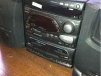 3 CD/dual cassette/am/fm stereo. Must sell by friday.