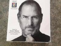 Steve Jobs book on cd. Listened to once. $10 or best