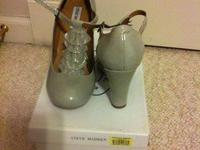 Steve Madden impereal grey patent leather  $20  size 9