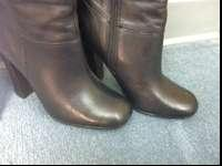 New condition Steve Madden black leather boots in size