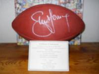 The great Steve Young autographed official NFL football