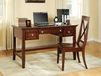 STEWART DESK & CHAIR SET * Made of solids and veneers *
