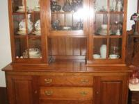 "Stickley China Cabinet, bottom measures 58""w x 20-1/2""d"