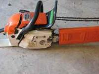 this is an 028WB stihl chainsaw that runs also has