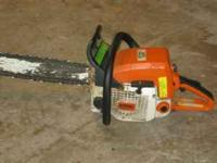 Ive got a Stihl farm boss chainsaw for sale it has an