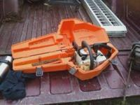 STIHL 011 AVT 25CU. IN. runs fine with case $175 or