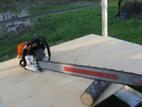 "Stihl MS460 Magnum with like new 36"" bar and chain,"