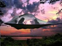 Awesome tree tent. Good for all terrains. Suspends