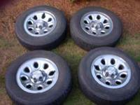 Stock 2008 Chevy Tires and Chrome Rims for Sale. Barely