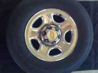 CHEVY RIMS/TIRES CLEAN 235/75R16 TIRES BOLT PATTERN