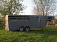 1995 open stock combo horse/livestock trailer, solid