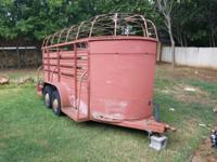 I have a good Stock Trailer 16ft. Dual axle. Has a new