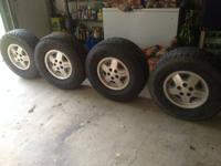 Set of stock Jeep wheels for sale. Came off of my Jeep
