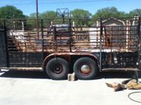 18 foot stock trailer for sale 1100 obo Text or call