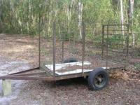 I have a nice 4' x 8' stock trailer for sale.The frame