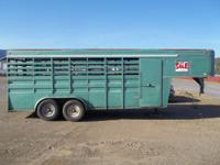 7' x 18' stock trailer. mid eighties model.. good