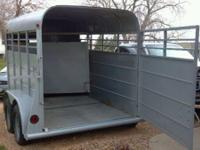 1997 Calico Stock trailer, bumper pull, electric