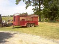 14' shop built trailer- 6000 lb. axles- electric