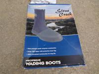 Stone Creek Wading Boots Size 9 New because they never