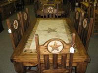THIS SIX FOOT STONE STAR TABLE SET  IS AVAILABLE IN