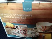$40 for the 16 piece stoneware dish set new in box