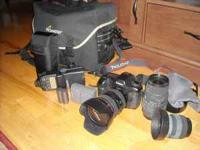 Canon 5D camera body, Canon 24-105 mm lens with image