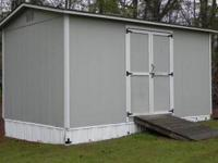 Storage Building W/Ramp, 10' X 16' with some shelves
