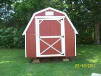 8 x 10 barn style storage shed Less than 3 yr old. Like