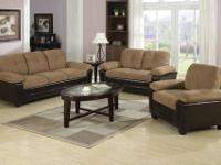 NEW STORAGE SOFA AND LOVESEAT $699.95 .......ASK US