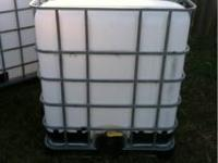 Two almost 300 gallon container totes, can use for