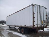 Used 44' refer storage trailer, wood floor. No leaks