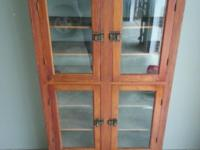 All original early pine store/home display cabinet.