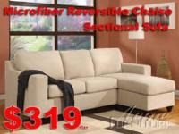 @3 Pcs Sectional Sofa $499@Small MicroFiber Sofa