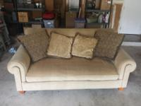 Great Shape American made beige sofa with single