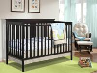 Stork Craft Mission Fixed Side 3-in-1 Convertible Crib