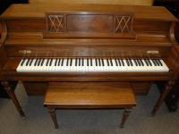 ON SALE! $850. This Story & Clark console piano is
