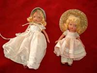 These storybook dolls have fixed legs and are from
