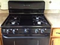Black gas stove in good condition. $200 OBO
