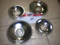 Brand name New 8 inch and 6 inch chrome drip pans for a