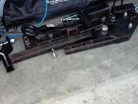 slightly used tow bar and portable hitch system used