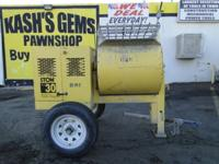 STOW MS30H 9.0 Cu Ft Plaster Mortar Cement Mixer 8HP