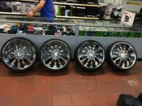 "22"" INCH Strada Wheels Corona  Chrome High Offset -"