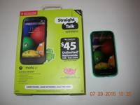 Moto E on Straight Talk system, used 7 months, almost