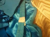 Have a blue chiffon outfit for sale. Strapless size 12